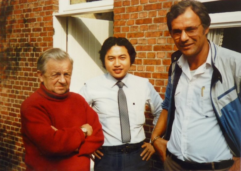 Ad Schaerlaeckens with an acquaintance from Taiwan on a visit to the Janssen Bros in Arendonk.