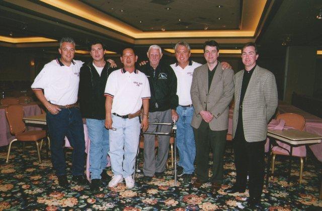 Bill Ensign (Race Organiser)..John Timmermans...Suvit (Loft Manager)...Gene Hamilton...Mike Ganus...Peter Fox...Brian Fox