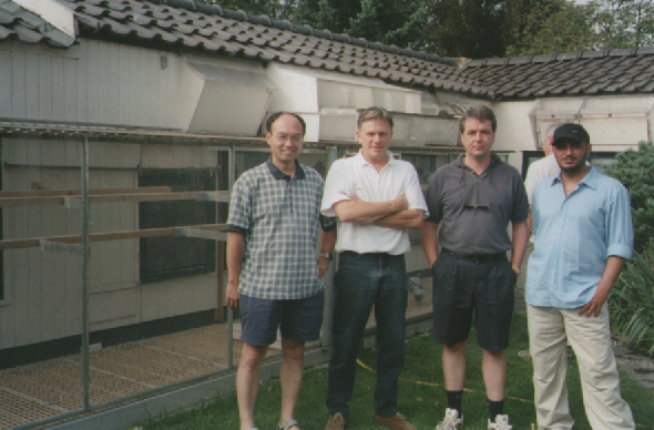 With Gordon Meng of Shanghai with Joop Koch, Eindhoven...