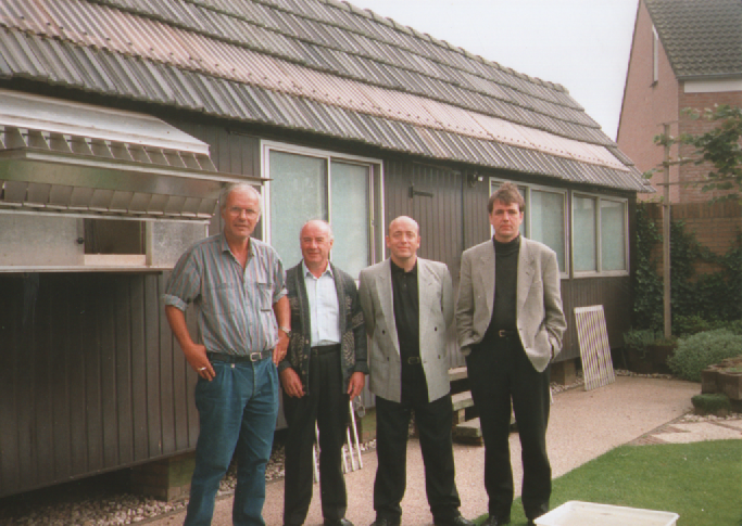 Visiting Ad Schaerlaeckens, Baarle Nassau with Albert and John Gerard...
