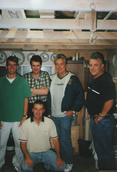 With Andy Skwiat from Indiana ,Mike,Bill Ensign from Las Vegas and a young Peter Colijn in Nieuwendijk...